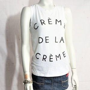 RECYCLED KARMA CREME DE LA CREME XS WHITE SHIRT